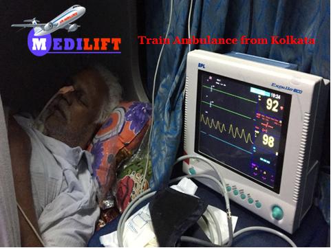 Train Ambulance from Kolkata