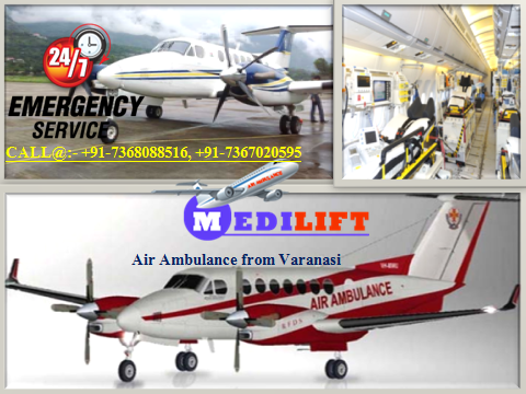 Air Ambulance from Varanasi