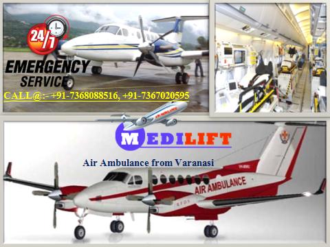 Air Ambulance from Varanasi